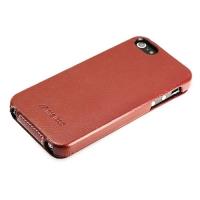 чехол melkco для iphone se коричневый