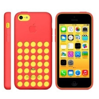 накладка силиконовая для iphone 5c красная