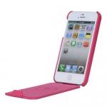 Чехол HOCO Duke leather case для iPhone 5 / 5S Малиновый