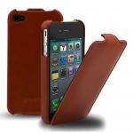 чехол melkco leather case для iphone 4 / 4s коричневый