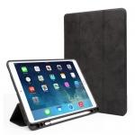 Чехол Silicon Case для iPad Air с держателем для стилуса Apple Pencil Черный