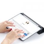 Чехол Silicon Case для iPad Pro 10.5 с держателем для стилуса Apple Pencil Золотой