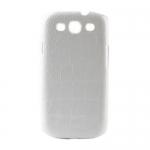 Накладка Crocodile для Samsung SIII S3 I9300 Белая