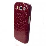 Накладка Crocodile для Samsung SIII S3 I9300 Бордовая