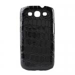 Накладка Crocodile для Samsung SIII S3 I9300 Черная