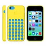 накладка силиконовая для iphone 5c желтая