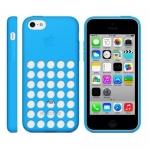 Накладка силиконовая для iPhone 5C Голубая